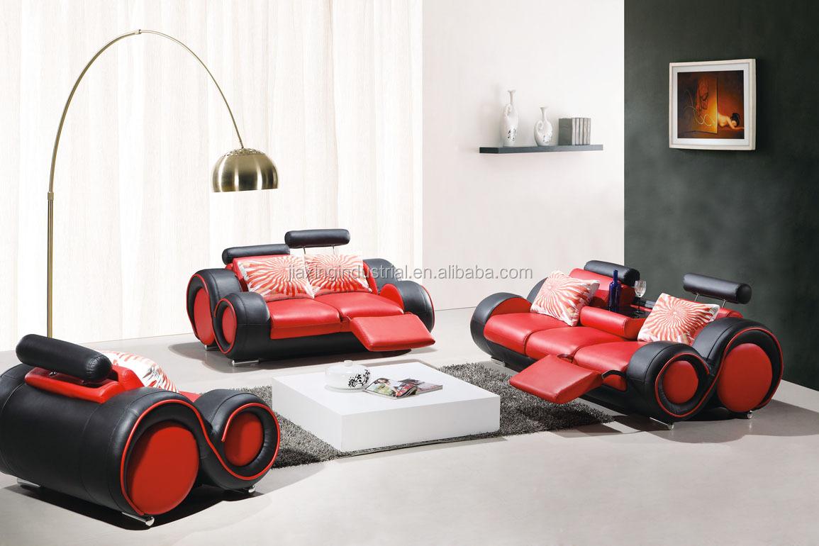 Italië stijl moderne woonkamer sectionele lederen sofa set met ...