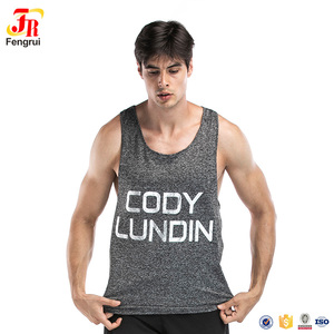 Mens gold gym singlets Most popular creative Slim Fit tank top gym men