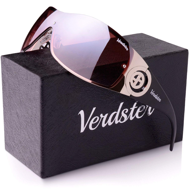 2b7c42bdb7 Verdster Casual Trendy Sunglasses For Women - Custom TourDePro Lenses -  Accessories Case - UV400 Protection