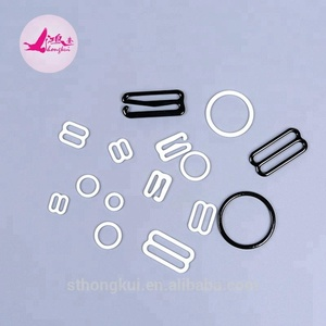Hot sale nylon coated/plastic/metal bra buckle/clasp/hook/ring/slider
