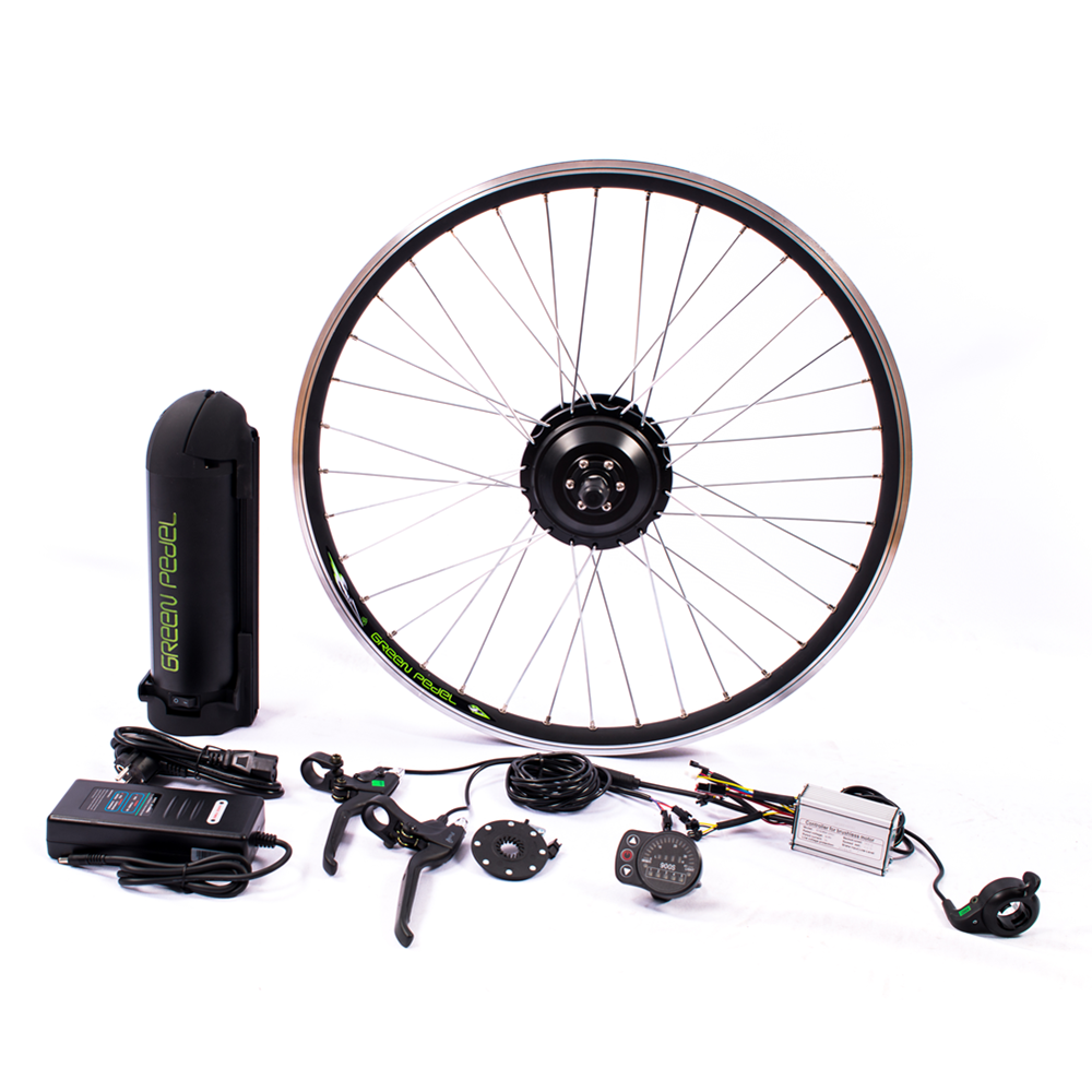 Hot sale Greenpedel 26inch wheel 36V 250W hub motor electric bike kit with battery, Black/silver