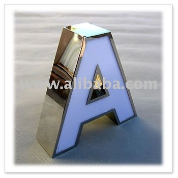 Acp signage raised letter sign 3d metal ss for Raised metal letters