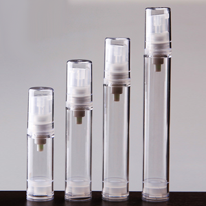 5/8/12/15ml wholesale ABS clear airless pump serum bottle, empty cosmetic pump bottle for fragrance perfume
