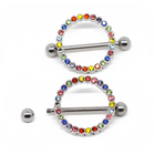 Fashion Design Metal Colorful Wedding Nipple Stretchers Piercing Body Jewelry