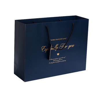 Holiday Luxury Gift Bags Paper Christmas Bag In Bulk With Gold Stamping Logo Product