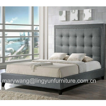 newest 20aa6 96e42 Grey Color Heigh Headboard Fabric Soft Bed - Buy Soft Bed Frame,Big  Headboard Beds,Leather Headboard Bed Modern Leather Soft Bed Product on ...