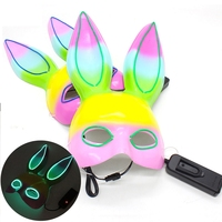 Halloween Costume accessories celebrate festival cosplay cute LED light plastic Rabbit neon Masks