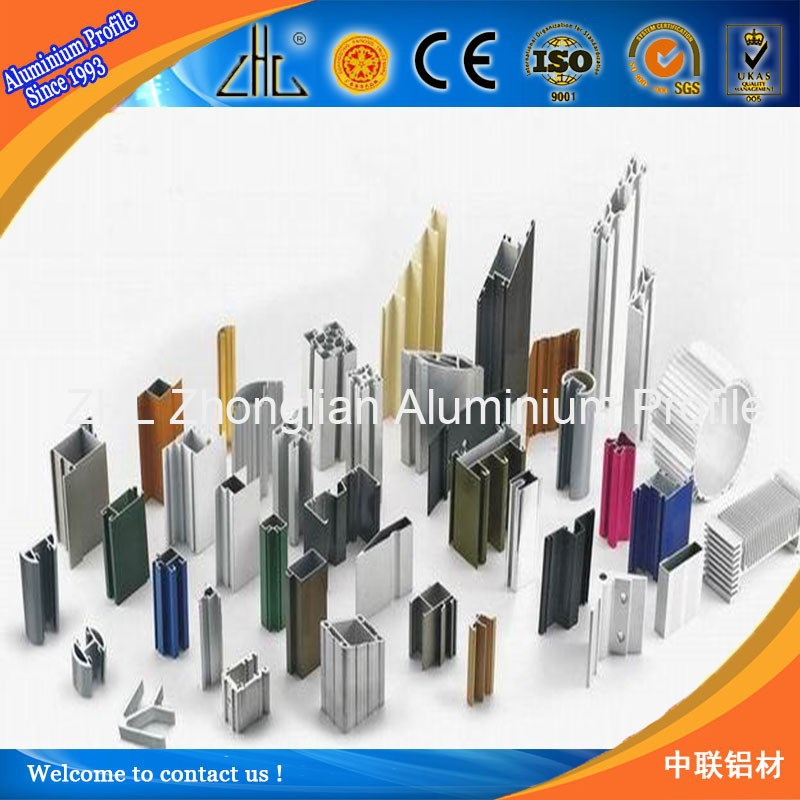 Great china aluminium profile, all kinds of alumimium extruded product, color coated all types of aluminium extrusion