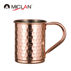 Hammered Stainless steel beer mug copper Plated tin beer mug stanley cup Moscow mule mug