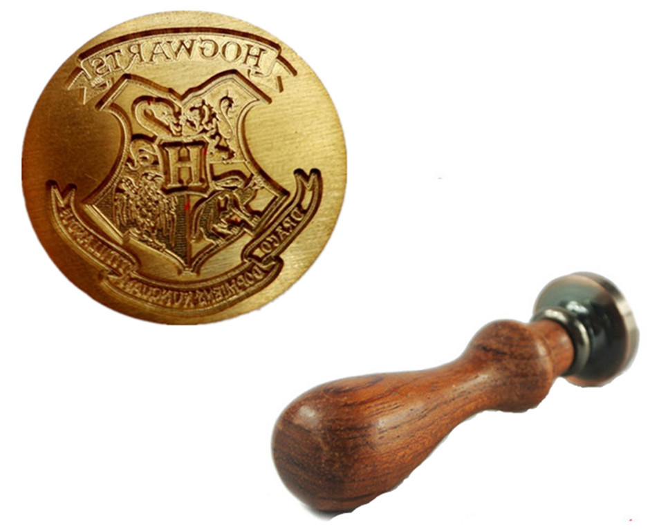 buy new vintage cool harry potter hogwarts school badge wax seal stamp w. Black Bedroom Furniture Sets. Home Design Ideas