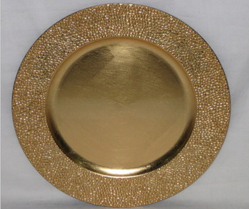 fancy gold plastic charger plate cheap & Fancy Gold Plastic Charger Plate Cheap - Buy Wedding Charger Plates ...