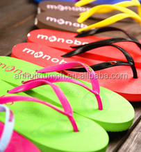 The new trend of the summer beach flip-flops ,classic fashion lady multicolor flip-flops wholesale rubber soles