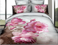 China Supplier Cotton 3D Custom Printed Bedding Set