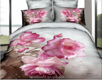 China Supplier Luxury 3D Custom Printed Bed Sheet Bedding Set