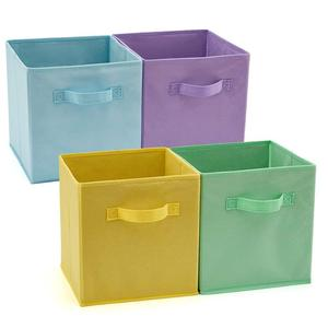 Cute cube foldable fabric toy storage boxes