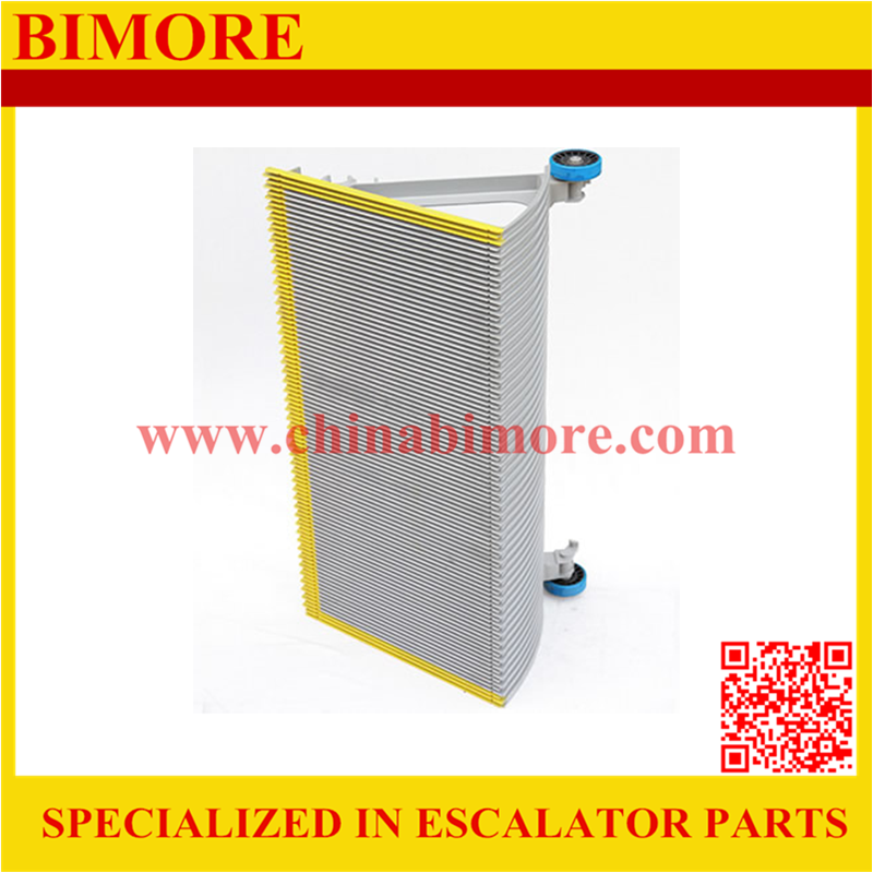 BIMORE XBA455T2 Escalator aluminum step with 3 sides yellow painted demarcations