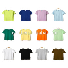 2014 Wholesale custom blank short sleeve 100 organic cotton t shirt for promotion