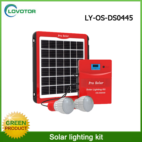 Complete off-grid mini solar power portable equipment led lighting use solar system for home use