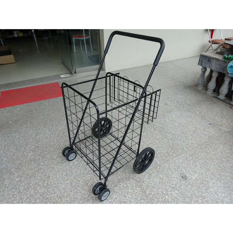 Foldable Folding 4 Wheel Shopping Trolley with Bags