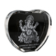 Save 15% Heart Shape Crystal with 3D Laser Ganesha inside for Wedding Gifts