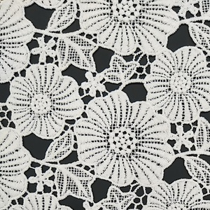 RS357 white flower water soluble embroidery 100% cotton lace fabric