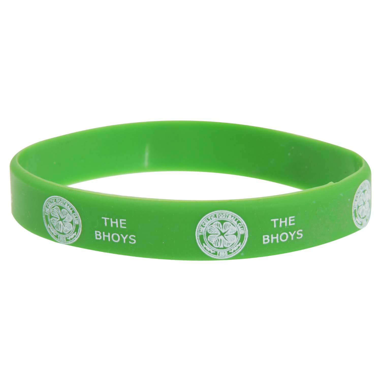 Celtic FC Official Single Rubber Football Crest Wristband