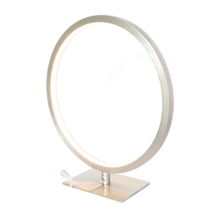 Modern Creative Hotel Bedside Decorate Portable Ring Luminaire Aluminum LED Table Lamp home table lighting