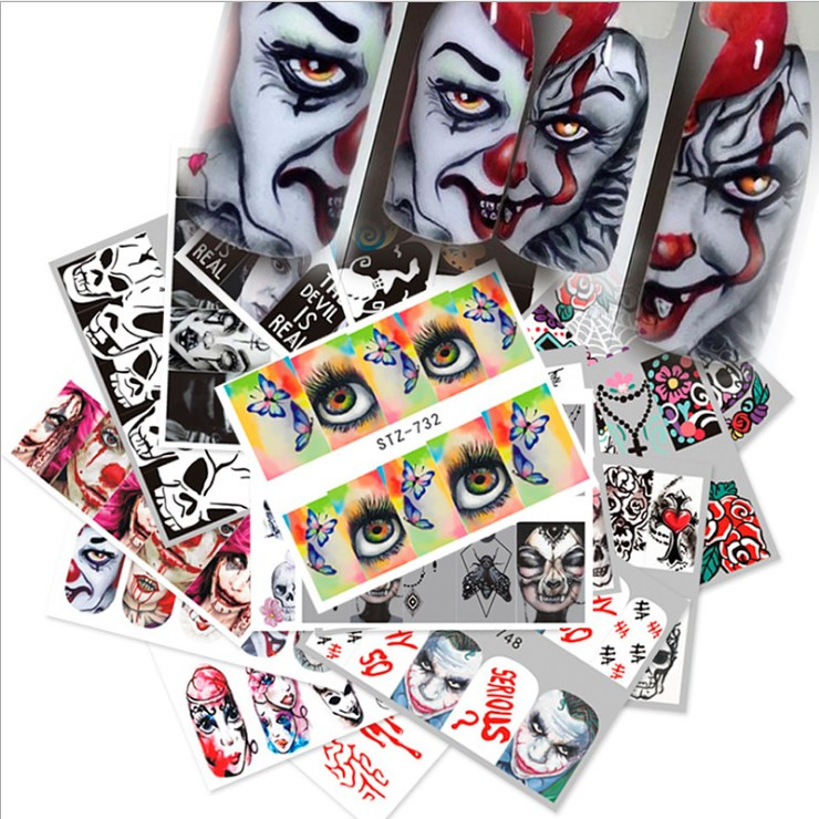 Halloween WaterTransfer Nail Art Sticker 25pcs/set