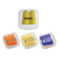 Wholesale Multi-Warna Dipilih Peluru Bentuk Dapat Digunakan Kembali Nyaman Silikon Kedap Suara Penyumbat Telinga Transparan Case