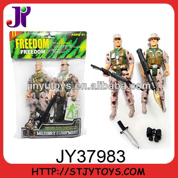 Plastic kid soldier toy with weapon