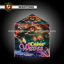 21 shots color waves triangle cake fireworks for party