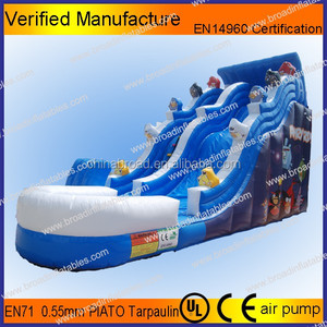 Durable swimming pool slide,intex inflatable water slide