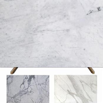 Italian White Carrara Marble Slab For Kitchen Backsplash