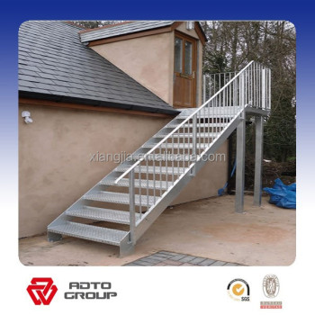 Gentil Simple Prefab Outdoor Steel Stairs