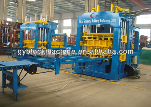 construction machinery GYM-QTY8-15 hydroform automatic concrete cement hollow brick block molding machine