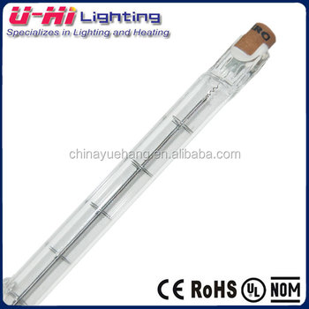 quartz halogen tungsten bulb 1500w 254mm lamp indian market