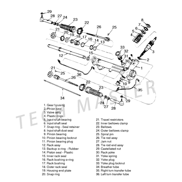 E46 Steering Rack Diagram