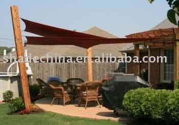5 Square Red Shade Sail For Leisure