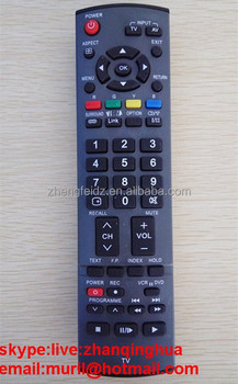panasonic tv remote control replacement. high quality black 48 button big lcd/led tv remote control for panasonic av tv replacement 7
