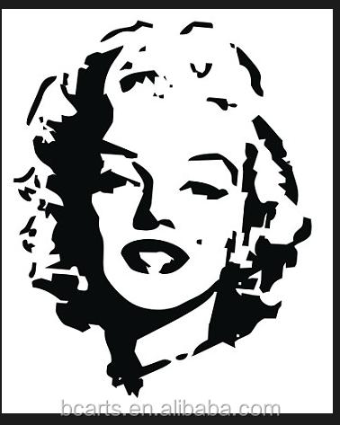 أبيض وأسود صورة مارلين النفط اللوحة/البوب اللوحة ل تزيين المنزل