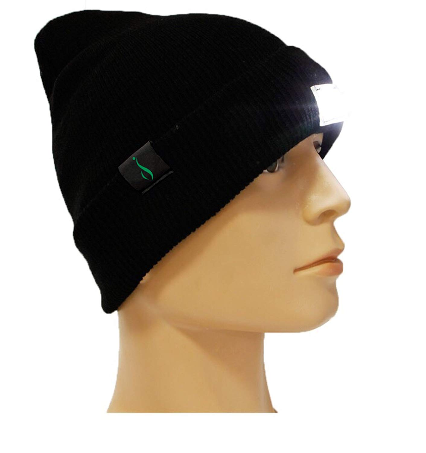 iElegance Extremely Bright LED Lighted Beanie, Headlamp, Cap, Hat! Unisex! Perfect Hands-Free Flashlight for Jogging, Dog Walking, Hunting, Camping, Grilling, and More! 100%!
