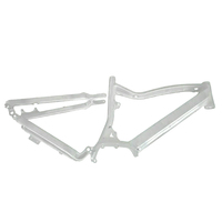 New products full suspension fat tire ebike frame 26 x 4.0 e-MTB snow bike frame Bafang MAX G330 mid drive motor