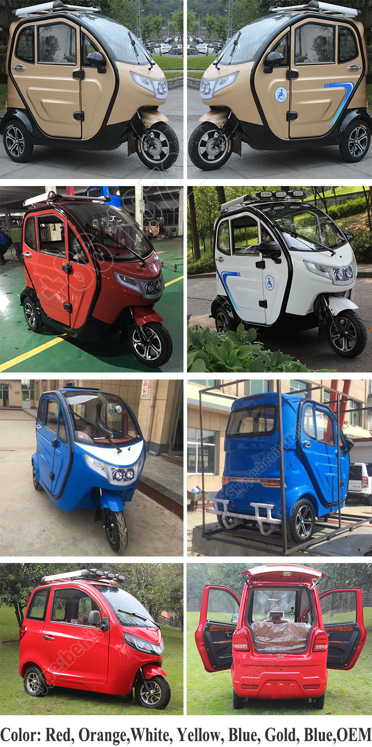 2018 China Top Quality 3 Wheel Petrol Motorcycle With Roof