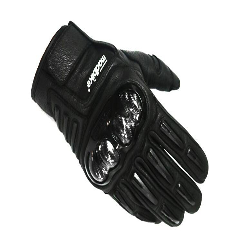 High End 100% Genuine Sheep Leather Motorcycle Gloves with Carbon Fiber Armor Shell MAD-24