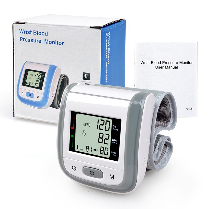 보건부 (Health Care 자동 손목 Blood Pressure Monitor Digital LCD 커 프 Meter Esfingomanometro 안압계