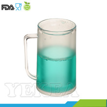 14 OZ Plastic Double Wall Freezer Frosty Beer Liquid Filled Mug