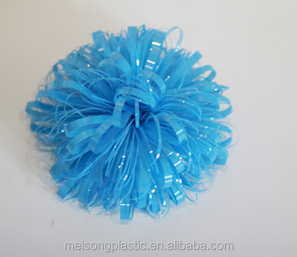 Decoration blue firework bow