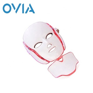 Ovia Electric LED Photon Treatment Facial Mask Skin Care Rejuvenation Anti-wrinkle Microcurrent Pototherapy Facial Beauty Mask