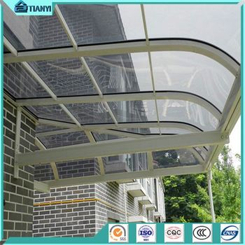 Windproof Polycarbonate Aluminum Balcony Patio Cover