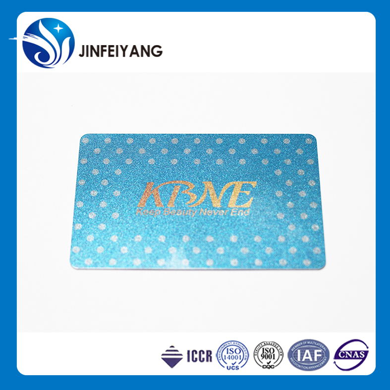 Fashional promotion gift waterproof pvc business member plastic card
